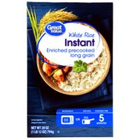 (3 Pack) Great Value Instant White Rice, 28 oz