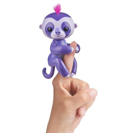 Fingerlings - Interactive Baby Sloth (Purple) By WowWee