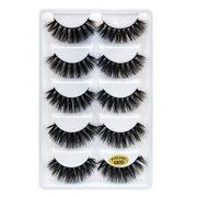9e94642428f 5 Pairs 3D Fake Eyelashes Long Thick Natural False Eye Lashes Set Mink  Makeup
