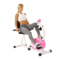 Sunny Health & Fitness P8400 Pink Magnetic Recumbent Exercise Bike