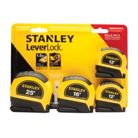 STANLEY 95-871 4-Pack LeverLock Tape Measures