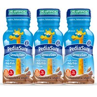 PediaSure Grow & Gain Nutrition Shake Chocolate 8 fl oz Bottles (Pack of 6)