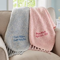 Personalized Honeycomb Baby Blanket- Available in Pink or Blue