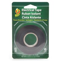 """Duck Brand All Purpose Electrical Tape, 0.75"""" x 66', Black"""