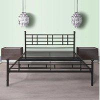 Best Price Mattress Easy Set-up Steel Platform Bed with Headboard, Multiple Sizes