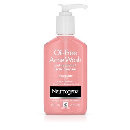 Neutrogena Oil-Free Pink Grapefruit Acne Facial Cleanser, 6 fl. (Neutrogena Oil Free Cream Cleanser)