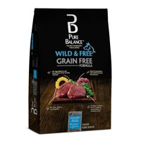 Pure Balance Wild & Free Grain-Free Bison, Pea & Venison Recipe Dry Dog Food, 24 lb