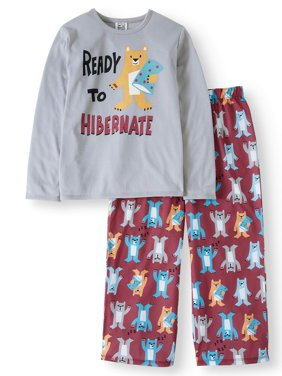 Boys' Long Sleeve Tee and Pants PJ Set