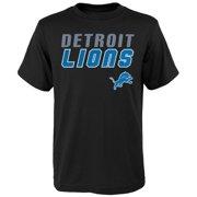 Youth Black Detroit Lions Outline T-Shirt 143b4902a