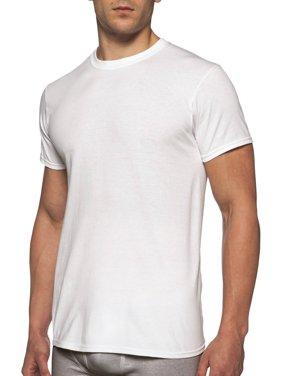 Gildan Men's Short Sleeve Crew White T-Shirt, 6-Pack