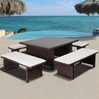 Deals on Atlantic Bellagio 5-Piece Low Outdoor Patio Dining Set