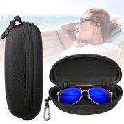 cf2d4de2a5b9 TSV Zipper Eye Glasses Sunglasses Hard Case Storage Box Holder Portable  Protector