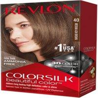 6 Pack - Revlon ColorSilk Hair Color, 40 Medium Ash Brown 1 ea