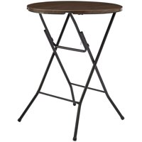 "Mainstays 31"" Round High Top Folding Table , Walnut"