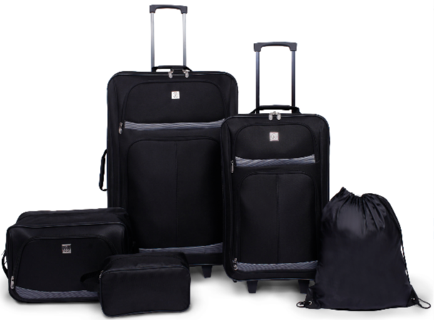 Protege 5 Piece 2-Wheel Luggage Value Set (Best 4 Wheel Suitcase Review)