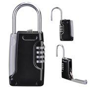 Yescom 4 Digit Combination Realtors Key Lock Box Safe Security Storage Organizer Padlock Case