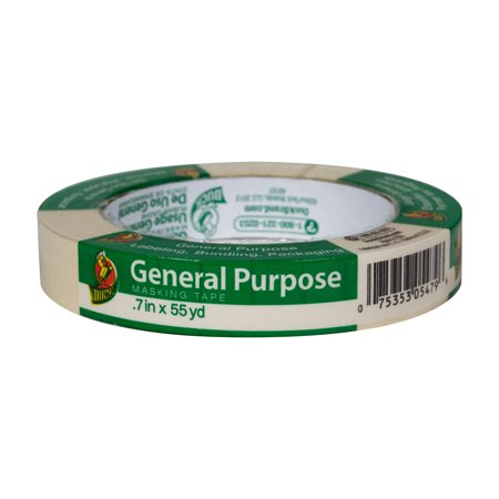 Duck Brand General Purpose Masking Tape - Beige, .7 in. x 55 (Paint Masking Film)
