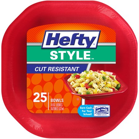Hefty Style Small Square Foam Disposable Bowls, 25 Count - Henry Halloween