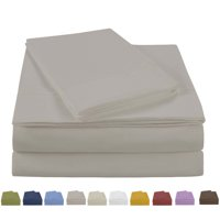 NC Home Fashions Beauty in Basic Solid Color sheet set, Twin, Bight White