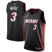 5365df34cc Dwyane Wade Miami Heat Nike Replica Swingman Jersey - Icon Edition - Black