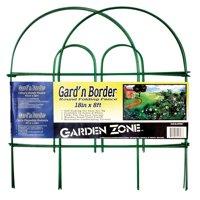 "Garden Zone 041808 Gard'n Border Round Top Folding Fence, Green, 18"" x 8'"