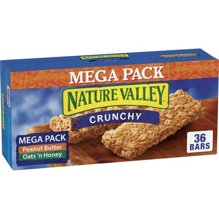 Nature Valley Granola Bars Peanut Butter & Oats 'n Honey 36 (Advantage Peanut Fudge Granola Bar)