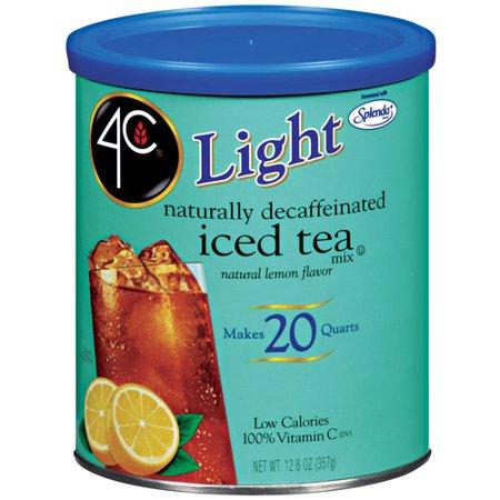4C Light Decaffeinated Iced Tea Mix With Lemon, 12.6 oz