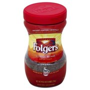 Folgers Classic Roast Instant Coffee Crystals, 8-Ounce Jar
