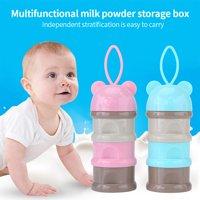 Product Image 3 Layers Portable Infant Baby Milk Powder Formula Dispenser Storage Case Box Feeding Container, Milk