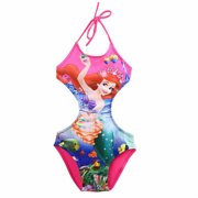 42d7404376 Summer Kids Baby Girl Cute Cartoon Swimwear Swimsuit Halter Bikini Set Swimming  Costume Bathing Suit