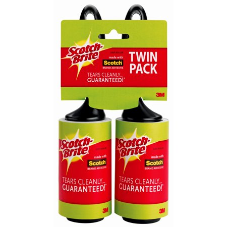 Scotch Brite Lint Roller Twin Pack 60 Sheets 2 Count Walmart Com