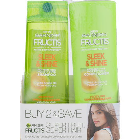 Garnier Fructis Sleek & Shine Everyday, Shampoo &