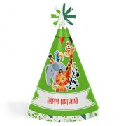 Jungle Party Animals - Cone Safari Zoo Animal Happy Birthday Party Hats for  Kids and Adults d34917c13991