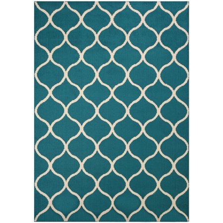 Mainstays Sheridan Fret Olefin High Low Loop Tufted Area Rug or - Runner Carpet