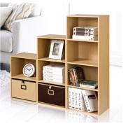 EECOO 3/4-Shelf Shelving Bookcase,Wooden Bookcase Stand Cube Storage Unit Bookshelf CD Display Shelving Unit free combination