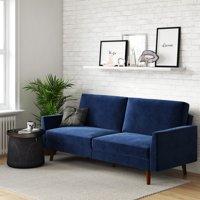 DHP Jules Upholstered Velvet Coil Futon, Convertible Sofa Sleeper, Multiple Colors