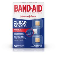 Band-Aid Brand Clear Spots discreet Bandages, All One Size, 50 ct
