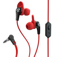 JLab Audio JBuds PRO Premium in-ear Earbuds with Mic, Guaranteed Fit, GUARANTEED FOR LIFE - Black / Red