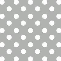 "David Textiles Anti-Pill Fleece Polka Dot Grey Fabric By The Yard 60"" Wide"