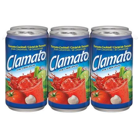 (2 Pack) Clamato Tomato Cocktail, Original, 5.5 Fl Oz, 6 - Hippie Juice Cocktail