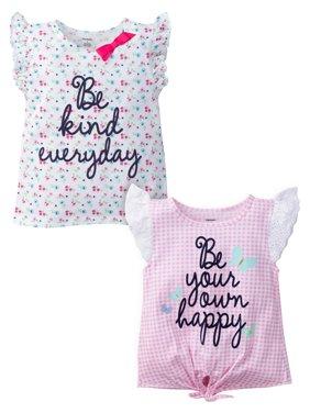 Flutter Sleeve T-shirts, 2-pack (Baby Girls & Toddler Girls)