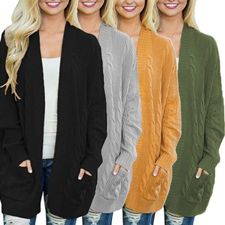Long Knit Cardigan Sweater - Clearance! Women's Autumn and Winter Style Batwing Sleeves Open Front Long Knitted Cardigan Sweaters Jackets