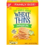 (2 Pack) Wheat Thins Snack Crackers, Reduced Fat, 14.5 Oz