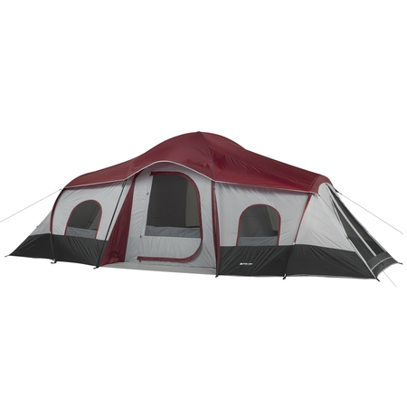 Ozark Trail 10-Person 3-Room Cabin Tent with 2 Side