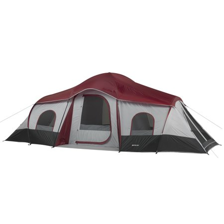- Ozark Trail 10-Person 3-Room Cabin Tent with 2 Side Entrances