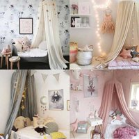 ENJOY Europeian Round Curtain Dome Bed Canopy Netting Princess Girls Mosquito Net