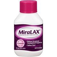 MiraLAX Polyethylene Glycol 3350 Powder Laxative, 8.3 Oz, 14 Dose
