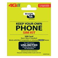 Straight Talk SIM Card for Verizon Tower CDMA Network 3-in1 Cut (/Nano/Micro/Standard)