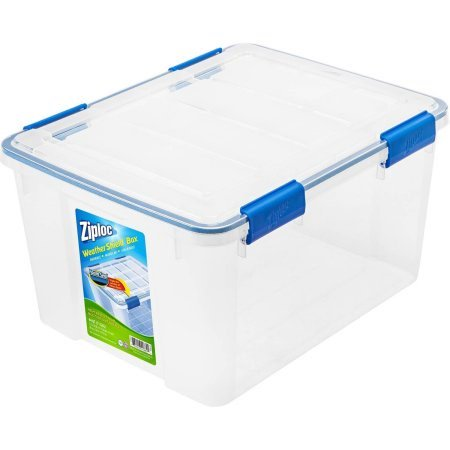 Ziploc 44 Qt./11 Gal. WeatherShield Storage Box, Clear](Clear Storage Bins)