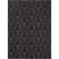 Garland Pirate Skulls and Crossbones Rug, Black